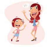 Dziewczyny i kobiety postać z kreskówki ilustracja Obrazy Royalty Free