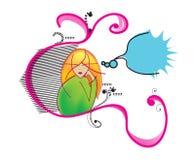 dziewczyny ilustraci główkowanie Zdjęcia Stock