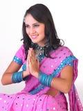 dziewczyny indyjski postury powitanie Obraz Royalty Free