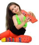 dziewczyny instrumentu musical Zdjęcie Royalty Free