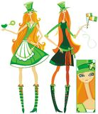 dziewczyny irlandzkie Zdjęcie Stock