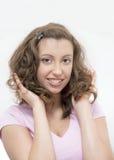 dziewczyny ja target2448_0_ szczęśliwy obraz stock