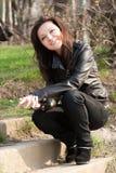 dziewczyny ja target942_0_ Zdjęcie Stock