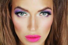 dziewczyny jaskrawy makeup obraz royalty free