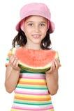 dziewczyny jedzący arbuz Zdjęcie Royalty Free