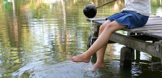 dziewczyny jeziora Zdjęcie Stock