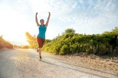 Dziewczyny jogging Obrazy Royalty Free