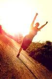 Dziewczyny jogging Fotografia Royalty Free
