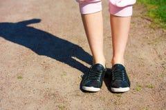 dziewczyny jogging nastoletni Obraz Stock