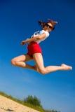 dziewczyny jumping Obrazy Stock
