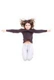 dziewczyny jumping Zdjęcia Royalty Free