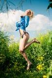 dziewczyny łąka Zdjęcie Stock