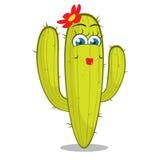Dziewczyny kaktusa charakter. Zdjęcia Royalty Free
