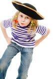 dziewczyny kapeluszowa pirata koszula okropna Fotografia Royalty Free