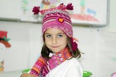 dziewczyny kapeluszowa szalika zima Zdjęcia Stock