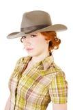 dziewczyny kapeluszu rudzielec zdjęcie stock