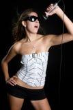 dziewczyny karaoke Zdjęcie Royalty Free