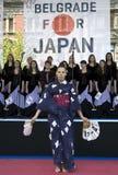 dziewczyny karate mundur Fotografia Stock