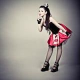 dziewczyny karciana kostiumowa królowa Obrazy Stock