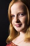 dziewczyny kierownicza portreta czerwień fotografia royalty free