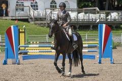 Dziewczyny końska jazda Obraz Stock