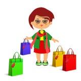 Dziewczyny, kobiety i zakupy Fotografia Stock