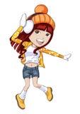 dziewczyny kolor żółty Fotografia Stock