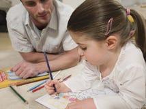 Dziewczyny kolorystyki obrazki Z ojcem Patrzeje Mnie Zdjęcia Royalty Free