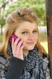 dziewczyny komórek telefon nastolatków Fotografia Royalty Free