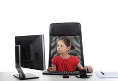 dziewczyny komputerowy biuro Obrazy Royalty Free