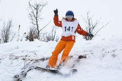 dziewczyny kongresu snowboard Zdjęcie Stock