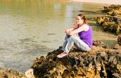 dziewczyny koralowa rafa fotografia royalty free