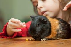 dziewczyny królik doświadczalny Zdjęcie Stock