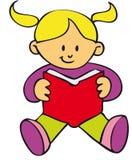 dziewczyny książkowy czytanie ilustracji