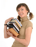 dziewczyny książkowy mienie Zdjęcie Royalty Free