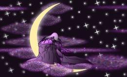 dziewczyny księżyc ilustracji