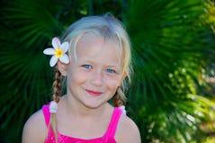 dziewczyny kwiat trochę włosów zdjęcia royalty free