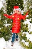 dziewczyny lasowa zima zdjęcia royalty free