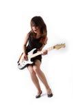 dziewczyny śliczna elektryczna gitara Zdjęcia Royalty Free