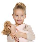 dziewczyny liitle portret dosyć Zdjęcie Stock