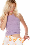 dziewczyny luźny spódnicy schudnięcie fotografia stock