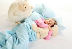dziewczyny mały śpi Zdjęcie Stock