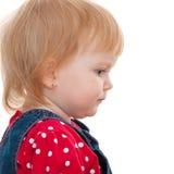 dziewczyny mały portait profil rozważny zdjęcie royalty free