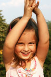 dziewczyny mały szczęśliwy Fotografia Royalty Free