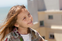 dziewczyny mały szczęśliwy Obraz Royalty Free