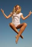 dziewczyny mały szczęśliwy skokowy Fotografia Stock