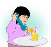dziewczyny mała telefonu zabawka Obraz Stock