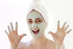 dziewczyny maska Fotografia Royalty Free