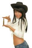 Dziewczyny mienia ładownica w ręce Obraz Stock