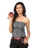 dziewczyny mienia hindusa granatowiec Obraz Stock